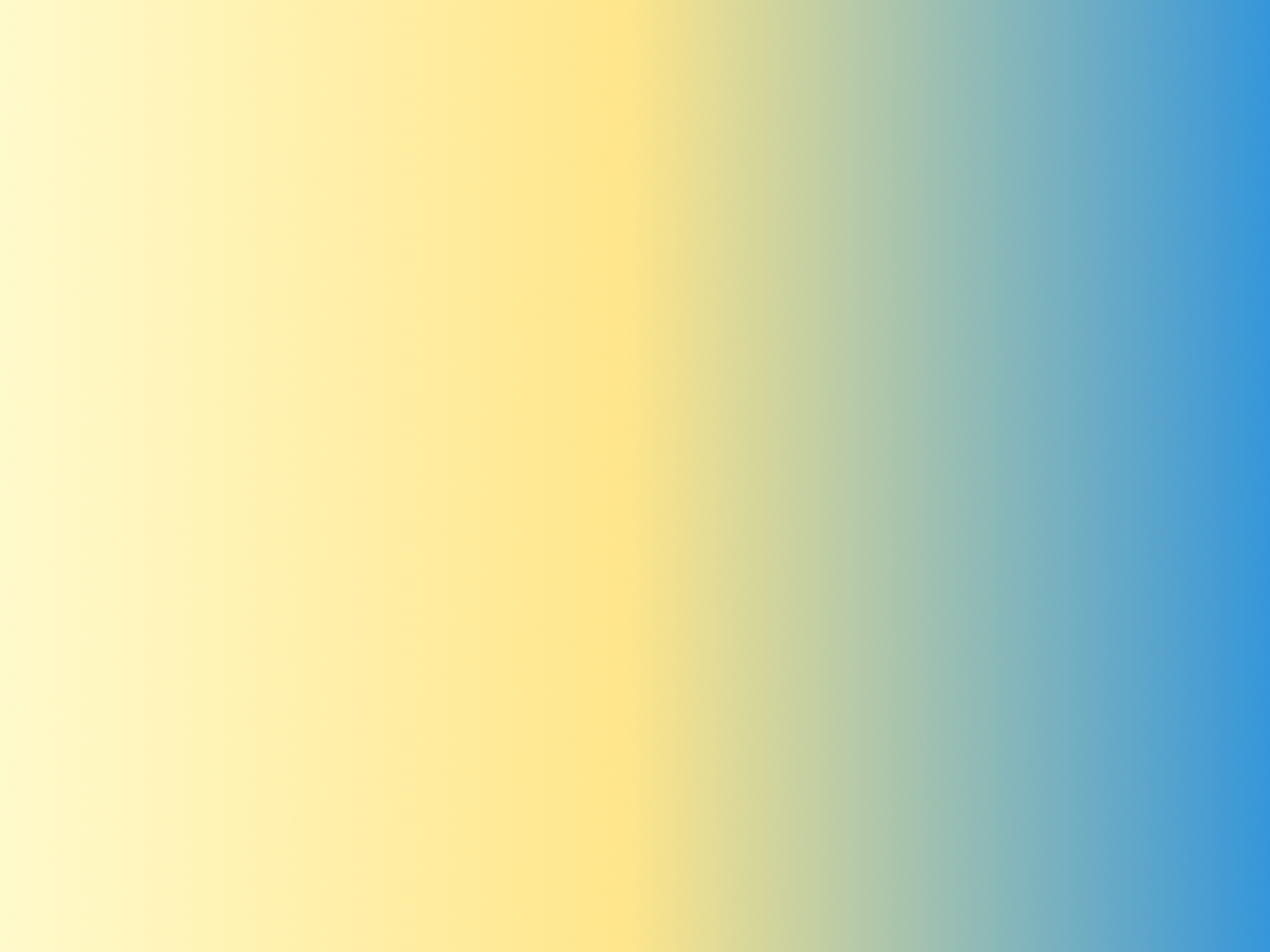 yellow to blue gradient